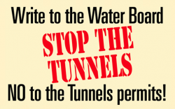 Help stop the Tunnels permits: We need YOU to write to the Water Board! Deadline July 15.