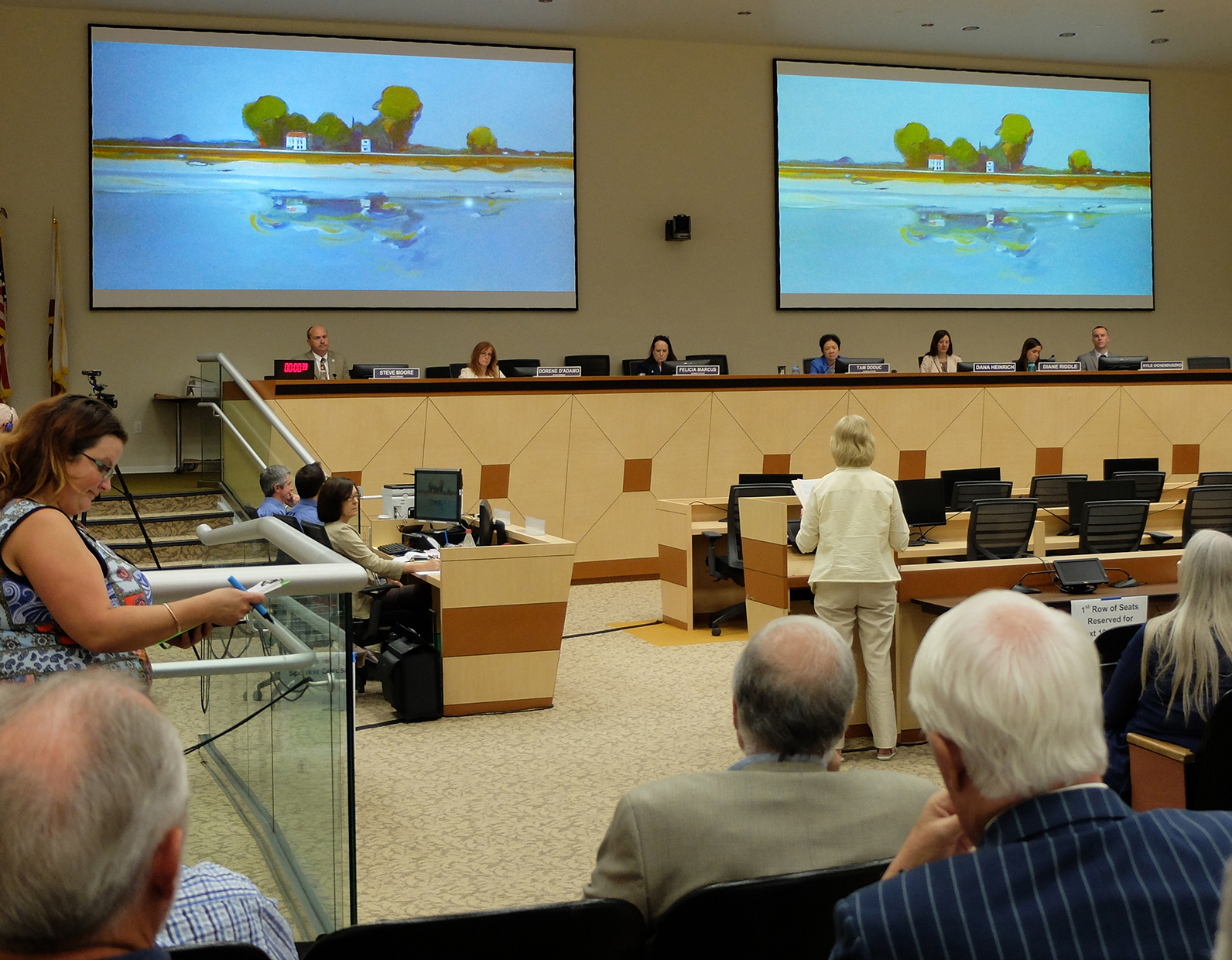 64 Delta Defenders speak before the State Water Resources Control Board on July 27